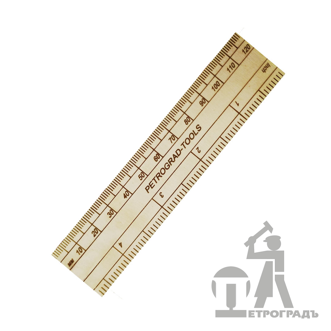 PETROGRAD Brass Rule 120 mm / 4 `